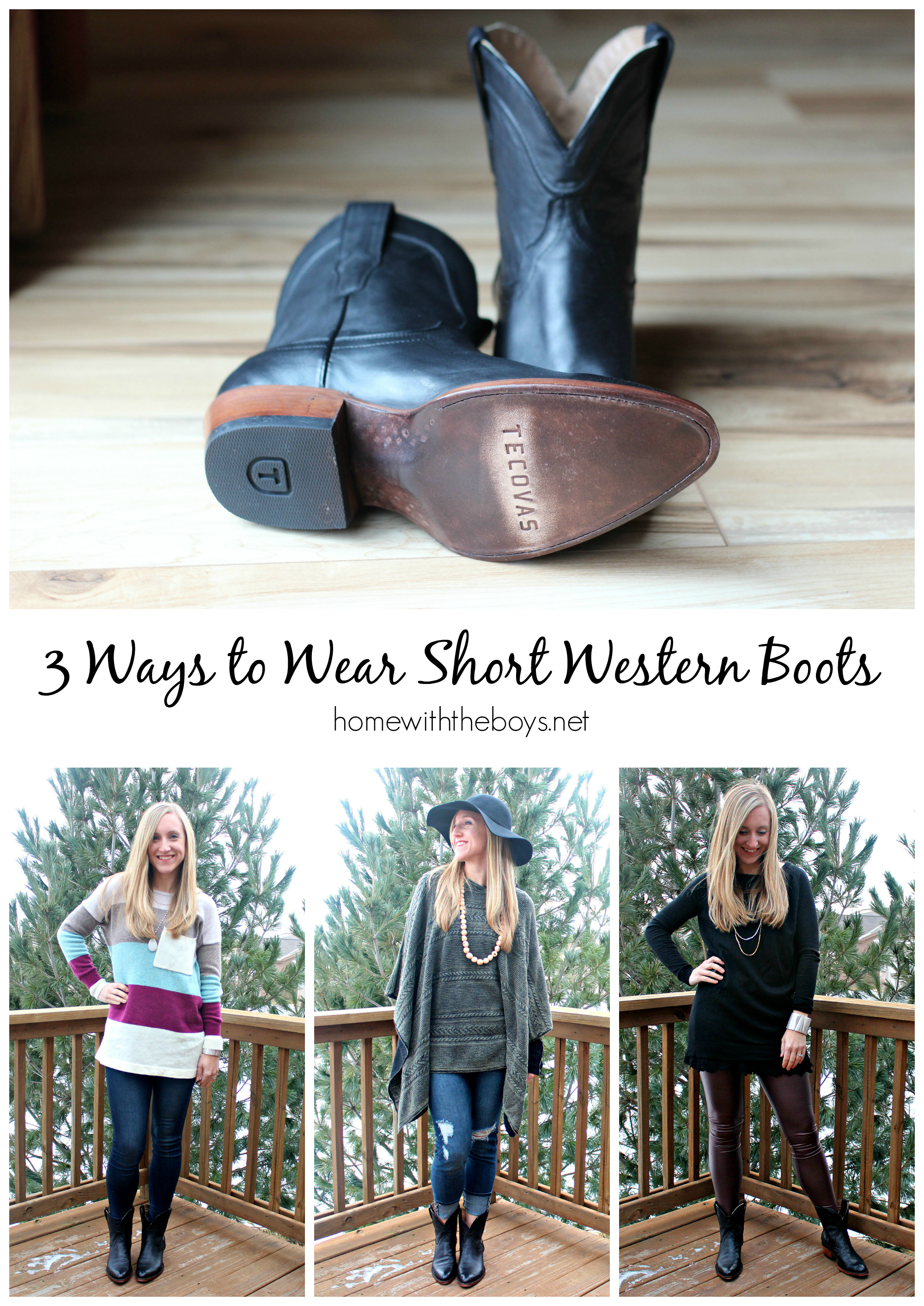 3 Ways to Wear Short Western Boots