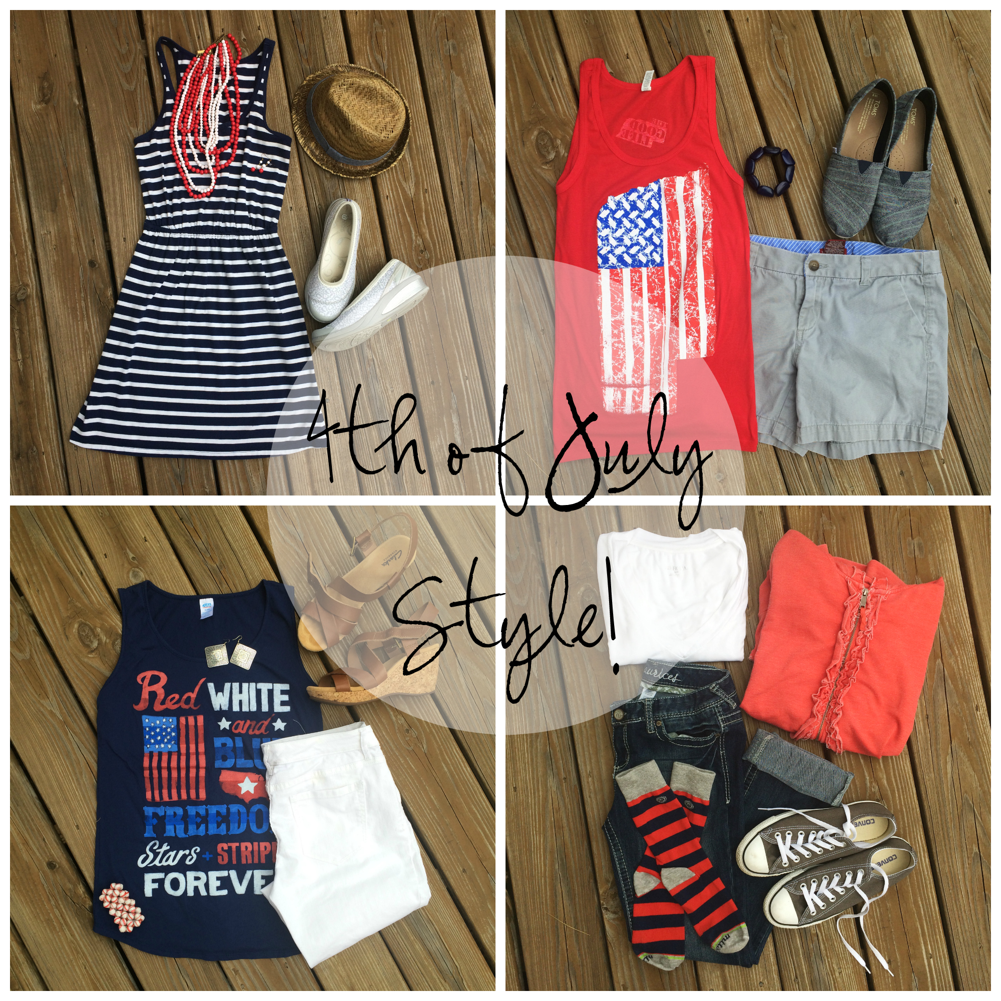 4th of July Style Collage