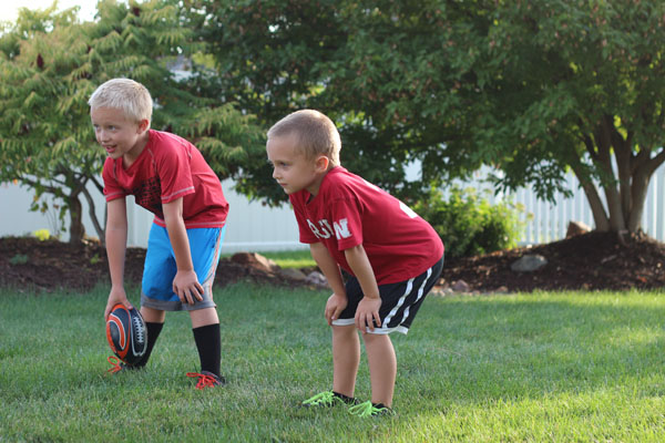 backyard football therapy