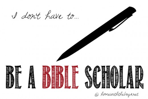 Be a Bible Scholar