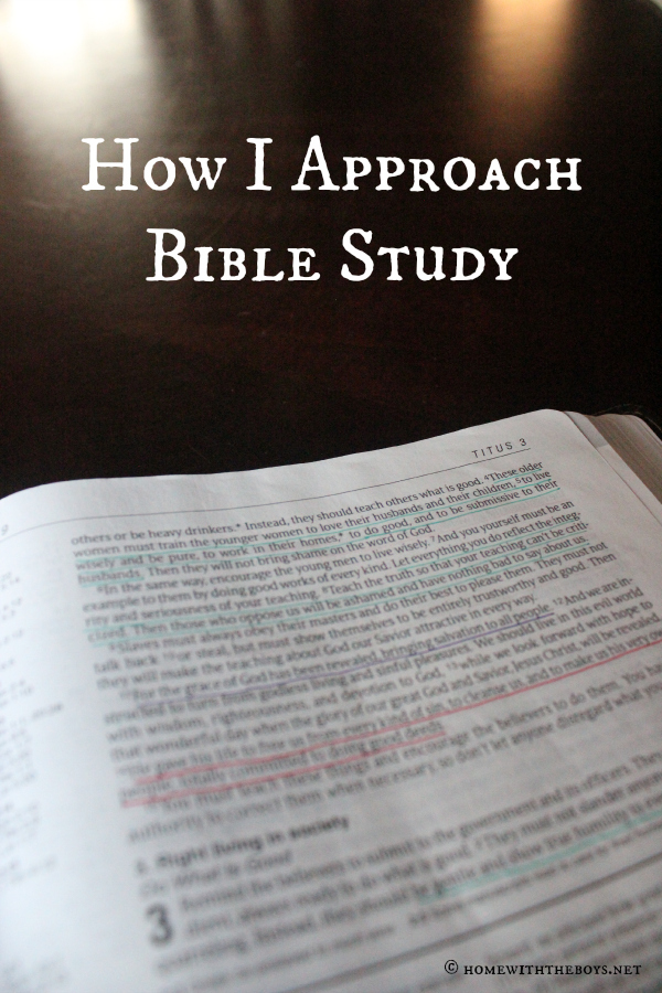 How I Approach Bible Study