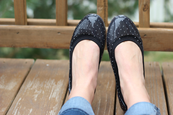 Black Flats Shoes