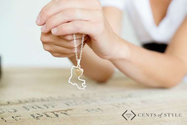 COS State Necklace LA