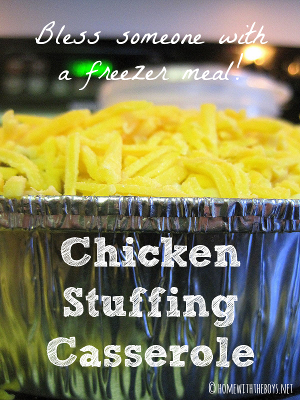 Chicken Stuffing Casserole {Freezer Meal}