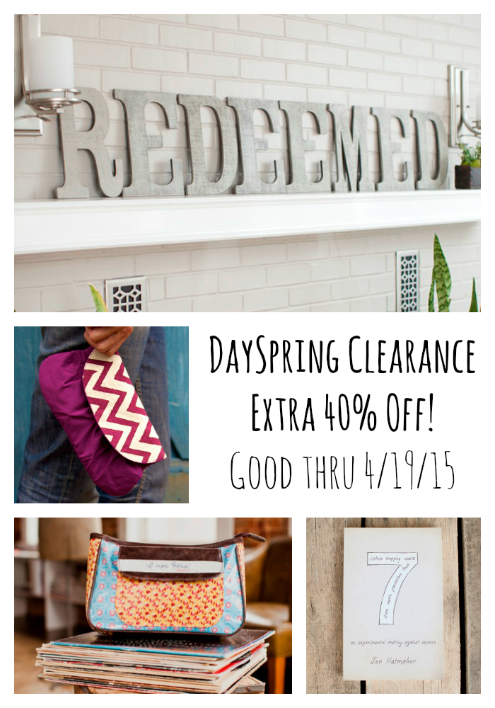 DaySpring Clearance – Extra 40% Off!