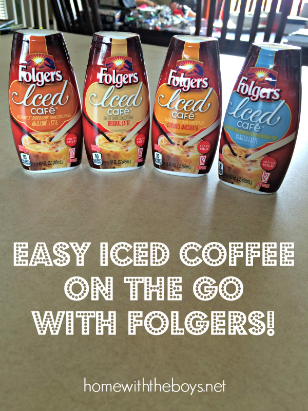 Easy Iced Coffee On the Go with Folgers!