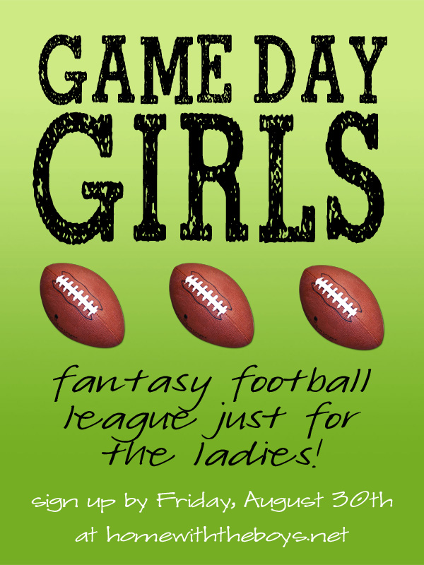 Game Day Girls: Fantasy Football for the Ladies!