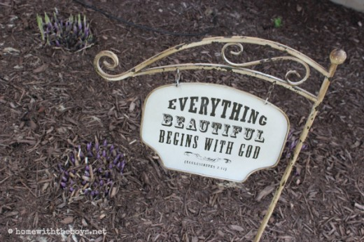 Garden Sign Shoots