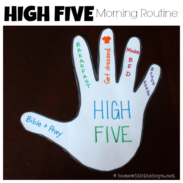 High Five Morning Routine