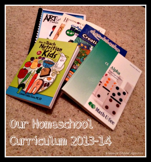 Homeschool Curriculum 2013-14