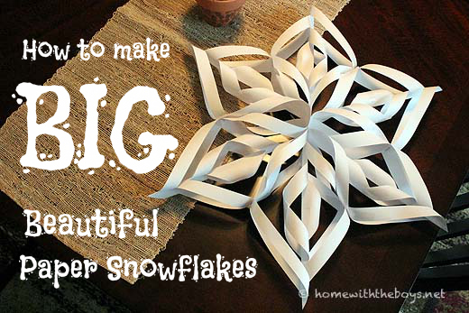 Big, Beautiful {Paper} Snowflakes! {Tutorial} | Home With