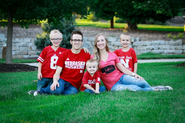 Husker Family Picture 2015