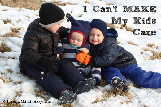 I Can't Make My Kids Care