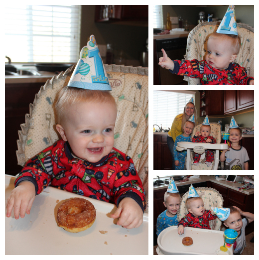 JJ First Birthday Collage