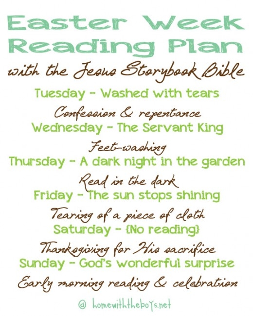 Jesus Storybook Bible Easter Reading Plan