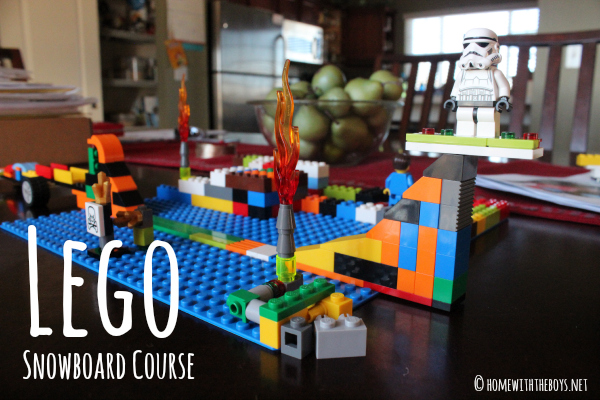 Kid-Created Lego Snowboard Course!