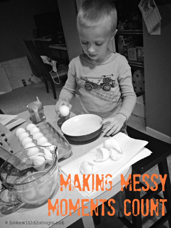 The Pot Boiled Over: Making Messy Moments Count