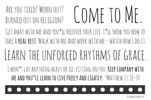 Matthew 11 Printable