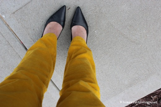 Mustard Pants and Pointy Shoes