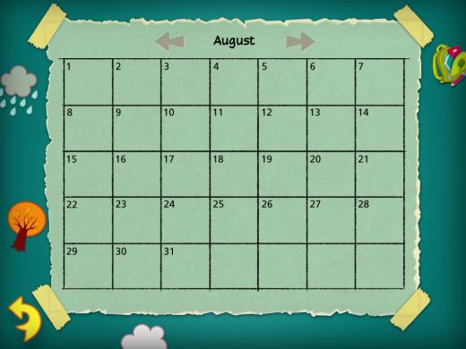 My Calendar Month Page