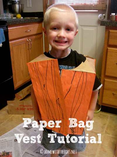 Friday Fun: Paper Bag Vest Tutorial