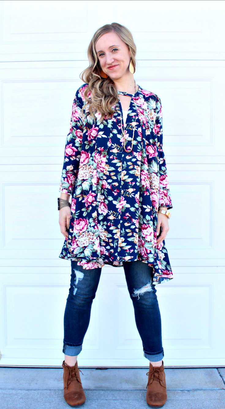 PinkBlush Floral Shirt Tall