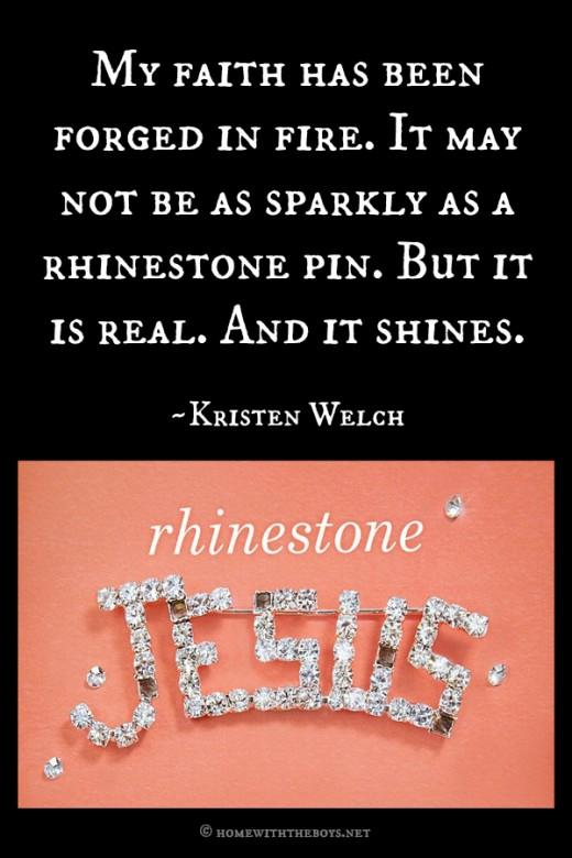 Rhinestone Jesus Quote