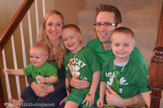 St Patty's Day Family