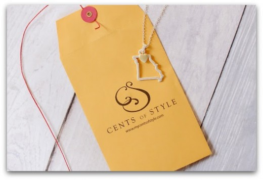 State Necklace Envelope