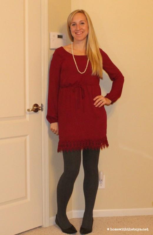 Stitch Fix 2 Maroon Dress