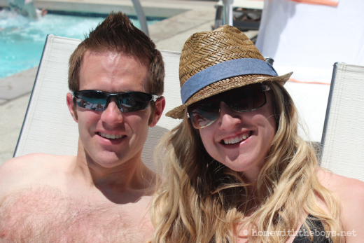Vegas Poolside Couple