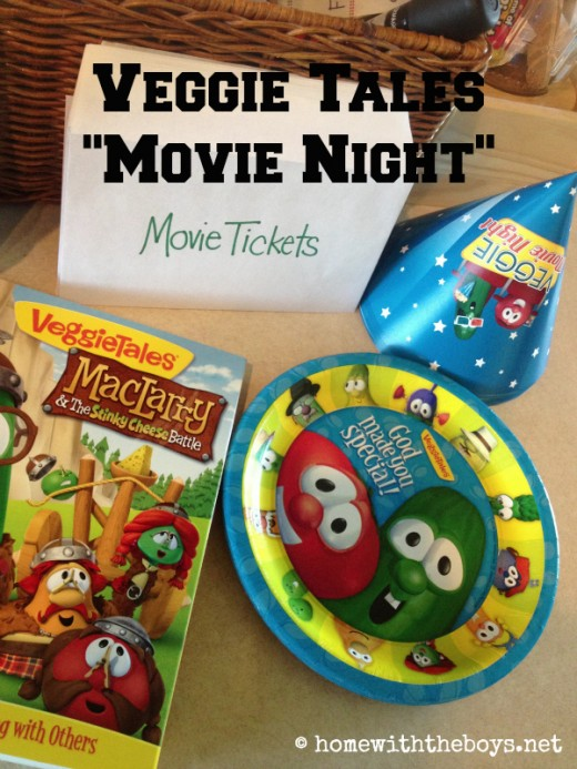 Veggie Tales Movie Night Supplies