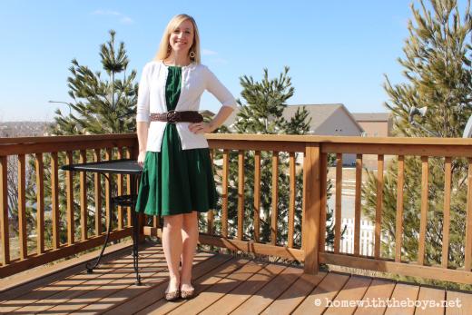 WIWW Green Dress Flats
