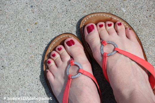 WIWW Orange Flip Flops