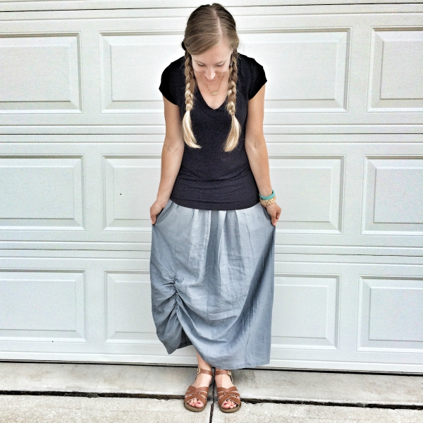 What I Wore 8-12 Gathered Maxi Skirt