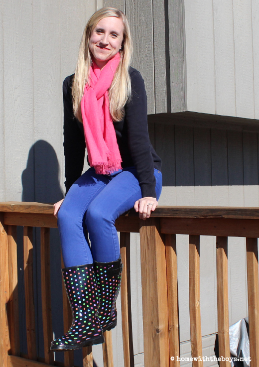 What I Wore Pink Polka Dots