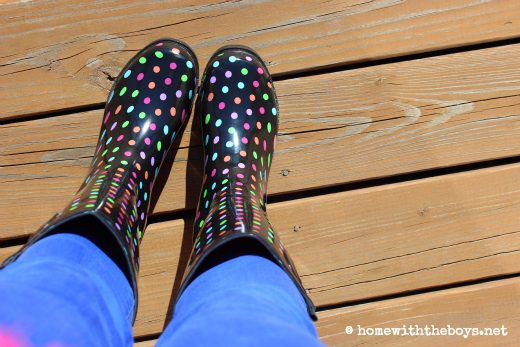 What I Wore Polka Dot Boots