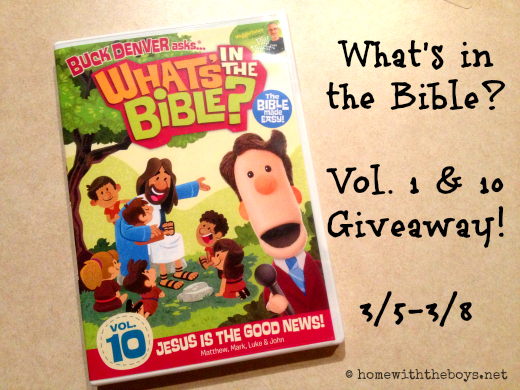 What's in the Bible Vol 10 Giveaway