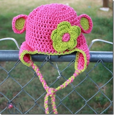 girl monkey hat