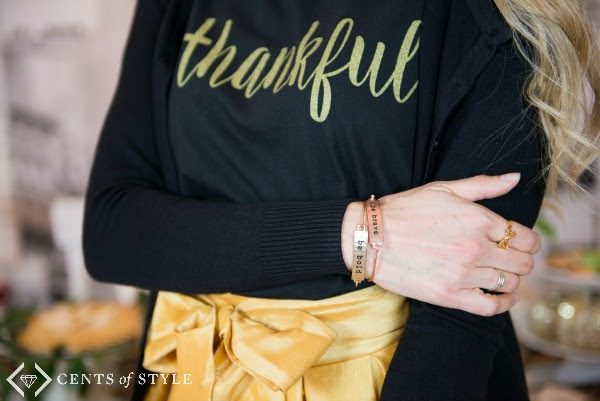 thankful tee skirt